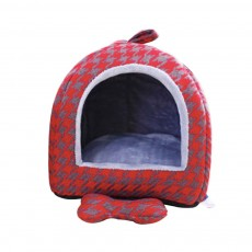Semi-enclosed Sleeping Bag Design Cat Nest, High-quality Felt Pet Nest with Removable and Washable Cushion