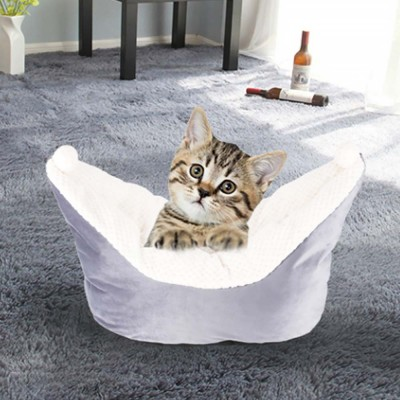 Beautiful Small Ferry Shape Cat Nest, High-quality and High-resilience PP Fluffy Cotton Pet House
