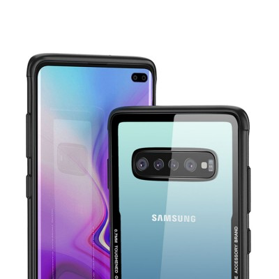 Samsung S10 Phone Case, New Transparent S10 Tempered Glass Case, Anti-fall & Anti-Scratch Samsung Contracted Phone Case for S10, S10 Plus, S10 Lite
