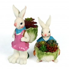 Cartoon Bunny Resin Handicraft, Home Accessories Simulation Ornaments for Garden Courtyard, Living Room, Balcony, Office