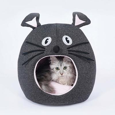Beautiful Mouse Shape Pet House Cave, High-elastic PP Cotton and Sponge Fabrics Cat Nest with Semi-enclosed Design