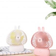 Cute Rechargeable Handheld Fan for Teenager Girls, USB Portable Handheld Mini Noiseless Fan, Desktop Mini Fan