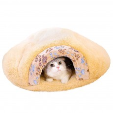 Super Soft Fabrics Cats House, Semi-enclosed Cat Nest with Anti-skid Drip Plastic on the Button