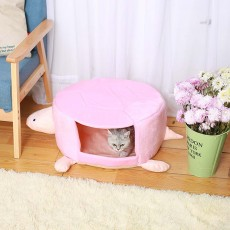 Short Plush PP Cotton Cat Nest, with Removable and Washable Cushion, Dual Using Cat House