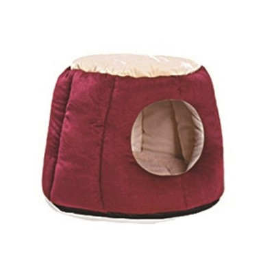 Northern Velvet Material Cat Nest, Beautiful Stool Shape Pet House, with Removable and Washable Cushion Cover