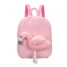 Flamingo Cute Cartoon Unicorn Children's Schoolbag, Practice Detachable Plush Kindergarten Backpack