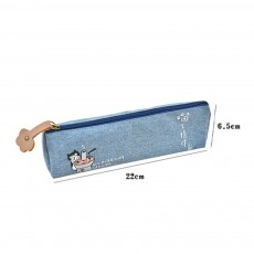 Cute Pen Case for Students, High-quality Canvas Fabric Pencil Bag, with Lining Inside the Pocket