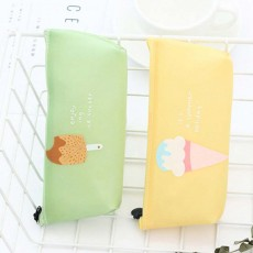 Creative Stationery Pencil Case, Jelly Gel Material Large Pencil Case, with Pure and Fresh Ice-cream Design