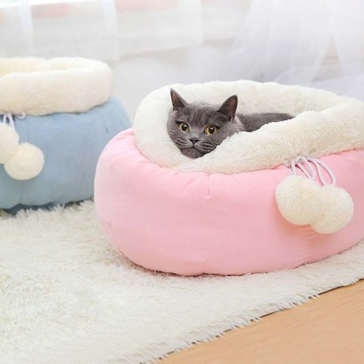 Sweet Color Embrace Barrel Model Cat Litter, Superior-quality Fluff Pet Nest With Good Resilience