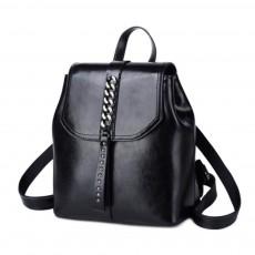 Fashion Retro Backpack Casual Genuine Leather Rucksack Shoulder Bag Women Fashion Accessories Elegant Large Capacity Rivets Travel Bag