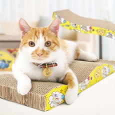 Multi-rule Cat Scratcher, A Variety of Irregular Shapes and Dizes Pet Scratcher, with Interesting Cat Patterns