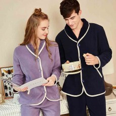 Couple Fashion Tracksuit, with Bilateral Pocket Design, Soft and Comfortable Lambskin Thickening Ladies Pajamas