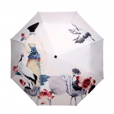 UV-proof Cartoon Umbrella for Both Sun and Rain, Creative 3 Folding Umbrella Allows for Customization