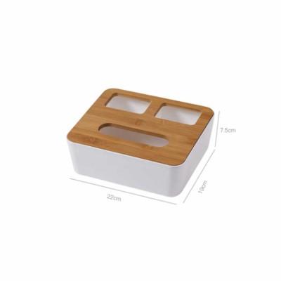 Wooden Cover Tissue Box, Napkin Printed Box Dispenser, Plastic Paper Towel Holder Storage Organizer