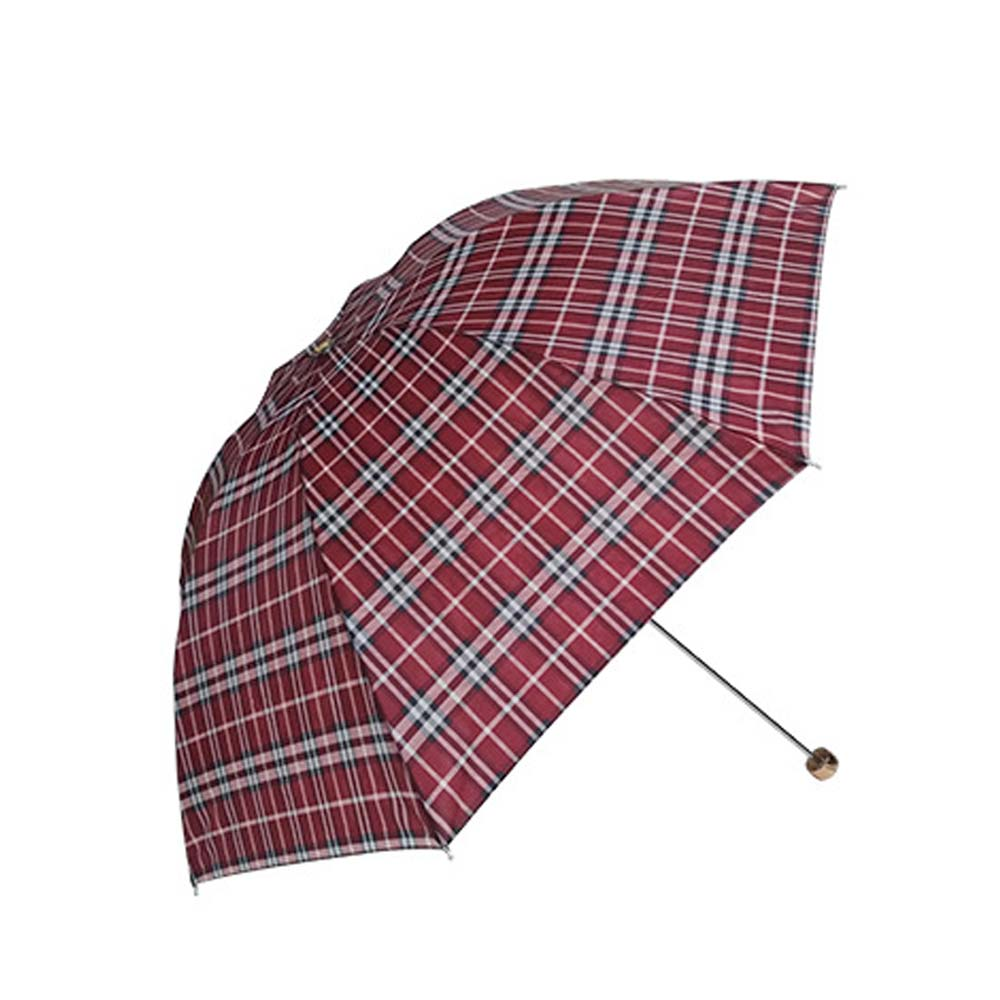 Fashion Umbrella Design Plaid and Travel Plaid Umbrella Sun and Rain Umbrellas Strong Windproof Compact Parasol. black