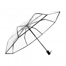Transparent Umbrella Allows for Customization, Full-automatic three folding Logo Printing Umbrella For Rainy Days