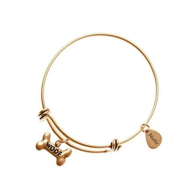 Dog Bone Bracelet Retro Pendant Plated Alloy Bangle Fashion Jewelry Accessories Adjustable Personality Thin Bracelets Best Gifts
