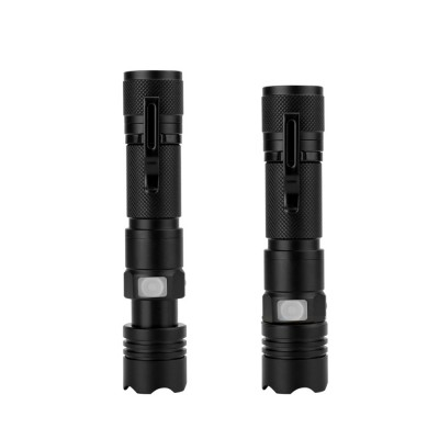 LED New T6 Flashlight USB Rechargeable Bright Flashlight with Indicator Light for Outdoor Cycling Lighting