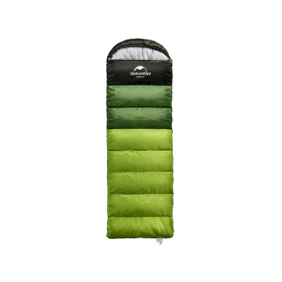 Outdoor Ultralight Sleeping Bag for Camping, Hollow Cotton Splicing Double Sleeping Bag for Adult Hat Detachable Winter Sleeping Bag