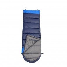 Outdoor Double Splicing Envelope Sleeping Bag for Camping, Thickened Cotton Warm Stretch Hand Sleeping Bag for Traveling Spring Autumn