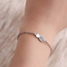 Women Bracelet Personalized Pineapple Pendant Plated Stainless Steel Bangle Fashion Jewelry Accessories Personality Thin Bracelets