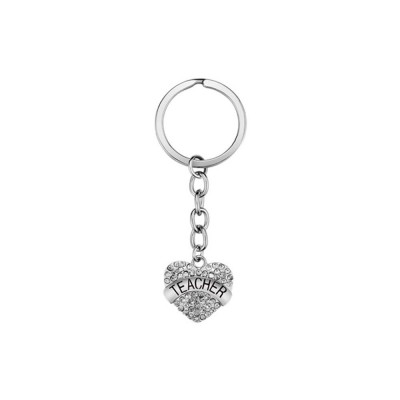 Fashionable Simple Keychain Plated Stainless Steel Pendant Key Ring Diamond Fashion Accessories Thanksgiving Gift For Teacher Instructor