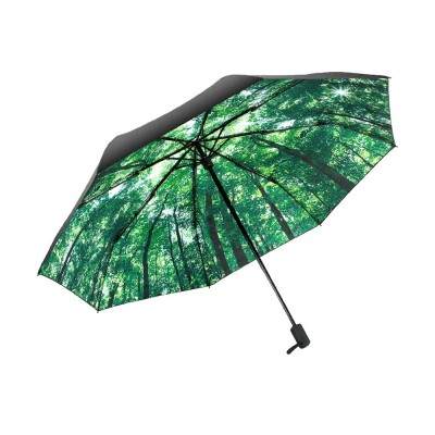 High Quality Small Size 3 Folding Umbrella, Fresh Looking Lady Travelling Girls Umbrella Both Sun and Rain