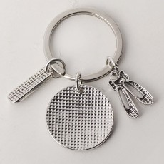 Personalized Pendant Key Ring, Stainless Steel Keychain Fashion Accessories Gift for Dance Teacher Instructor
