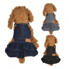 Jeans Suspender Skirt for Dogs New-style Pet Clothes in 2019 Used During Autumn and Winter Dog Clothes