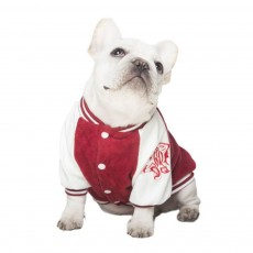 Dog Baseball Costume Double-layer Embroidered New-style Baseball Suit for Both Big and Small Size Dogs in Autumn and Winter