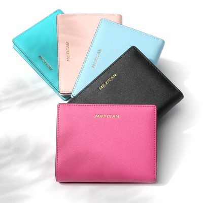 Women Purse Small Leather Pocket Purse Ladies Mini Short Purse Slim Bifold Retro Money Clip Gifts for Women