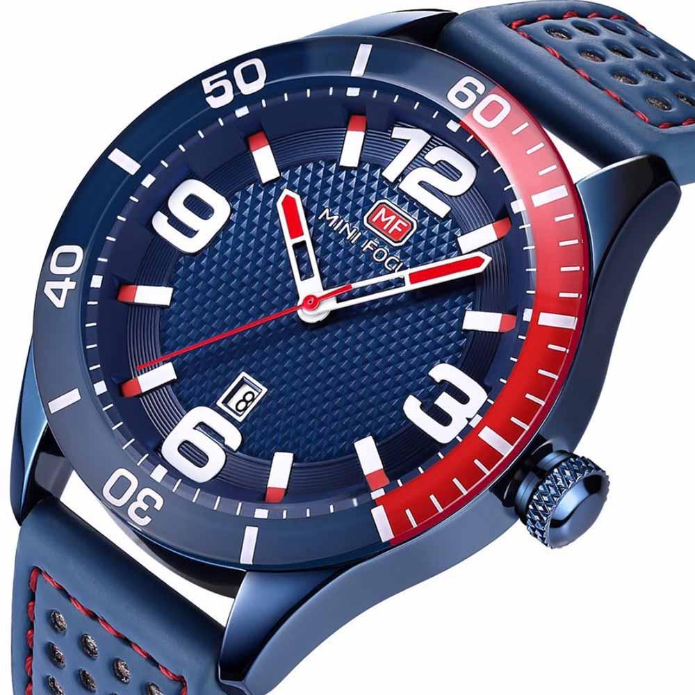Men's Calendar Quartz Watch with Stylish Casual Leather Strap, Digital Waterproof Sports Watch for Sport & Business Work