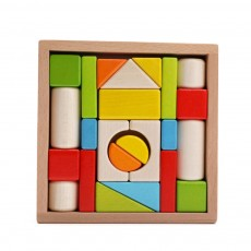 Wooden Toy Building Blocks, Colorful Amazing Big Particles Children Early Education Wooden Educational Building Blocks