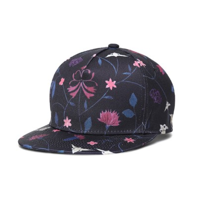 Unisex Baseball Hat Cotton Breathable Floral Print Trucker Hat Snap Back Hip Pop Baseball Caps for Gifts Fitness Running