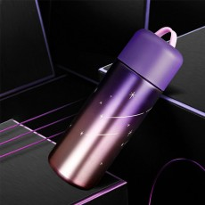 Stylish Fresh Color Vacuum Cup, Therapy Thermo Jug for Hot Water, Gradual Change Starry Sky Vacuum Cup for Students