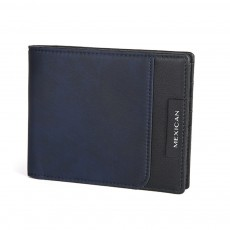 RFID Blocking Slim Bifold Retro Money Clip, Leather and Polyester Credit Card Wallets Gifts for Men