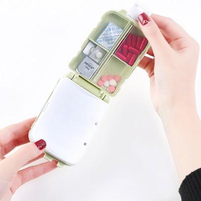 Non-Toxic Degradable 7 Day Weekly Pill Organizer, Large Capacity Wheat Straw Environmentally Friendly Portable Mini Pill Box