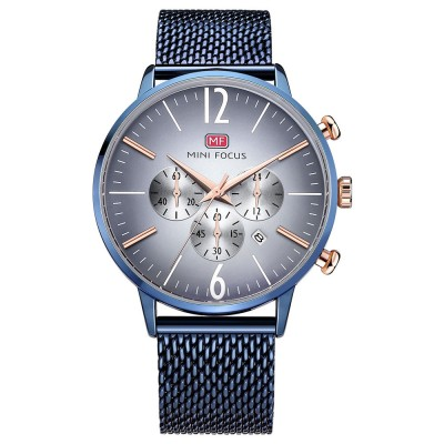 Wear-proof Stylish Watch, Skin-friendly Steel Strap Watch for Men, Water-proof Quartz Movement Round Alloy Dial Watch