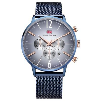 Wear-proof Stylish Watch, Skin-friendly Steel Strap Watch for Men, Water-proof Quartz Movement Round Alloy Dial Watch
