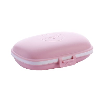 Mini Pill Storage Box with Eight Compartments, Double Space PP Container Portable Weekly Medicine Case