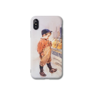 Vintage Oil Painting Mobile Phone Cover, Greedy Little Boy Printing  Phone Case for 6s, 6sp, 7p/8p, XS, XR