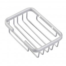 Aluminum Wall Mounted Bathroom Shower Soap Holder Dish Square Basket, Kitchen Bathroom Essential Large Capacity Soap Holder