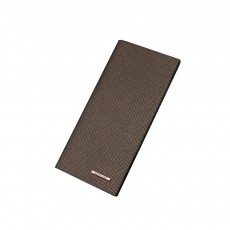 Long and Slim Men's Wallet with Study and Durable PU Leather Material, Hardware Fashion Brand Logo Business Wallet