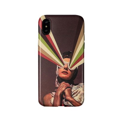Soft TPU Matte Phone Case Full Enclosed Compatible for iPhone 6 6s 7 8 XS Max XR 7P 8P with Girl Rainbow Print iPhone Shell