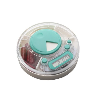 7-Day Electric Pill Box Medicine Organizer Container with Timer Alarm Clock Reminder for Patients