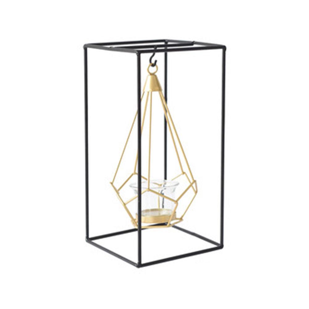 Minimalist Luxury Romantic Iron Candle Holder, Dinner Table Decoration Ornament Hollow Candelabrum