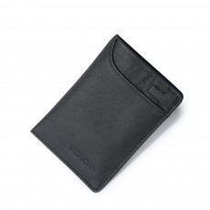 Mini Card Bag Cow Leather Textile Material Bag for Men Several Pockets Packs Portable Thin Card Holder