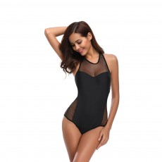Hollow-out Bikini with Comfortable and Skin-friendly Polyester and Spandex Fabric for Ladies, No Rims One-piece Swimsuit