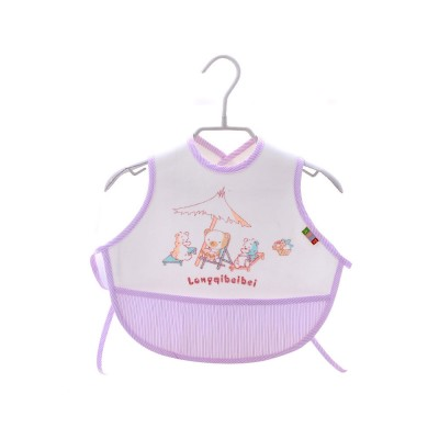 Velvet Material Bib for Baby Double-sided Mask with Bottom Pocket Buckle Saliva Cover Waterproof Baby Saliva Towel