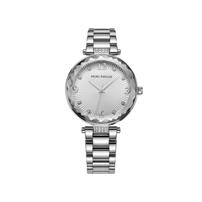 Lady's Watch with Diamonds Imported Quartz Movement for Business, Wear-resistant Crystal Lens Delicate Watches